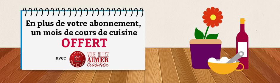 Un mois de cours de cuisine en ligne - Cour de cuisine en ligne ...